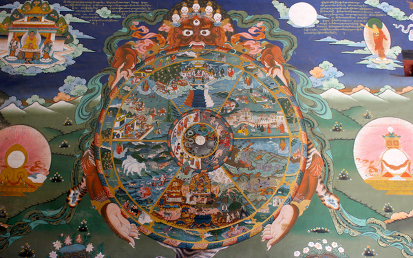 The wheel of life  Buddhism Bhavachakra wiki